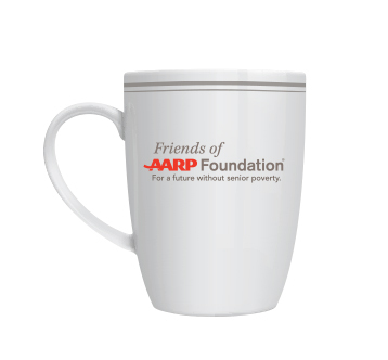 Friends of AARP Foundation mug
